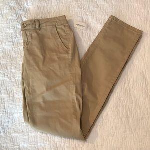 Aeropostale Skinny Twill Khaki Pants NWT